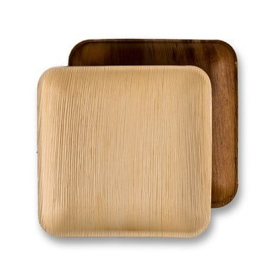 8 Inch Square Palm Plate