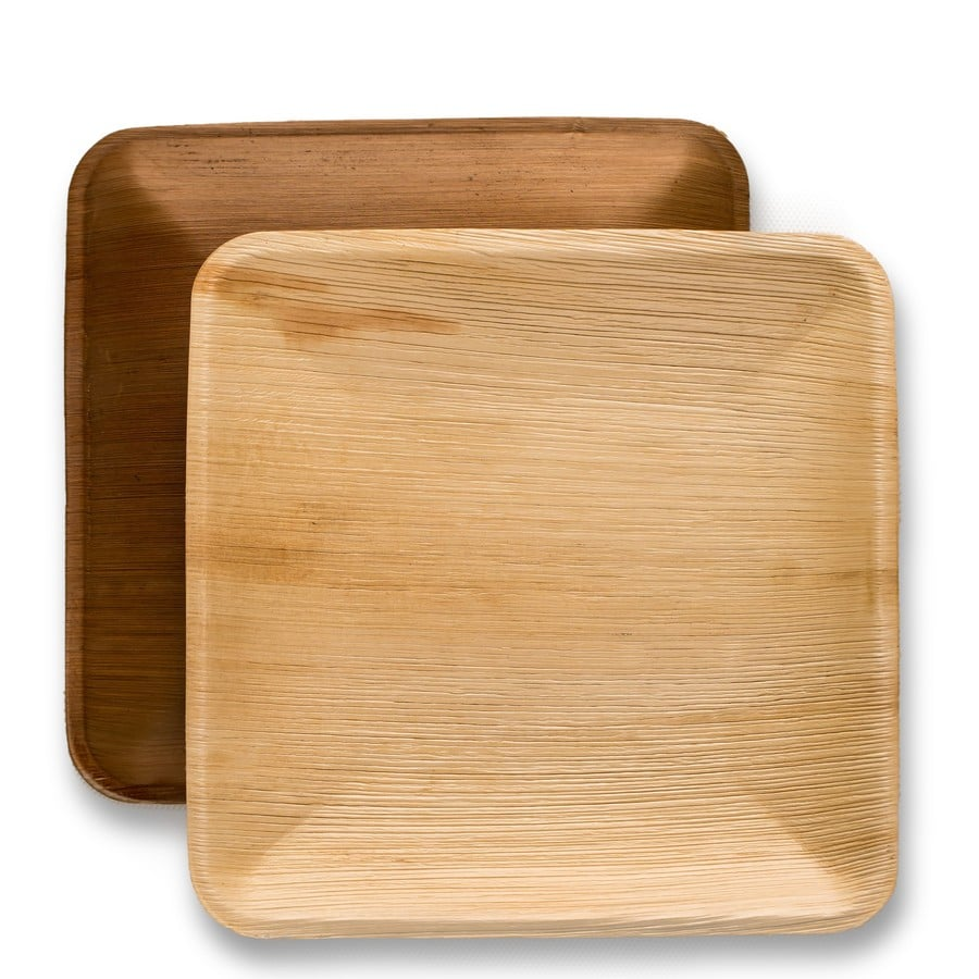 10  Inch Square Palm Plate